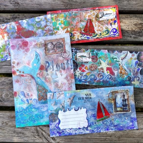 Une série de Mail Arts pour Kerglaz, par Cocofolies