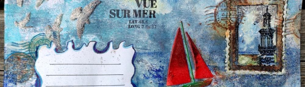 Un mail art de bord de mer, par Cocofolies